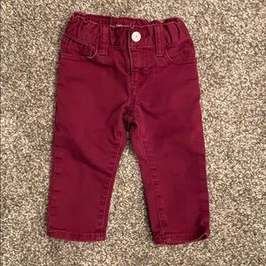 Maroon Denim Pants